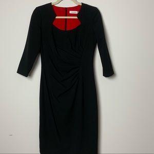 Black Midi Calvin Klein Dress Size 4